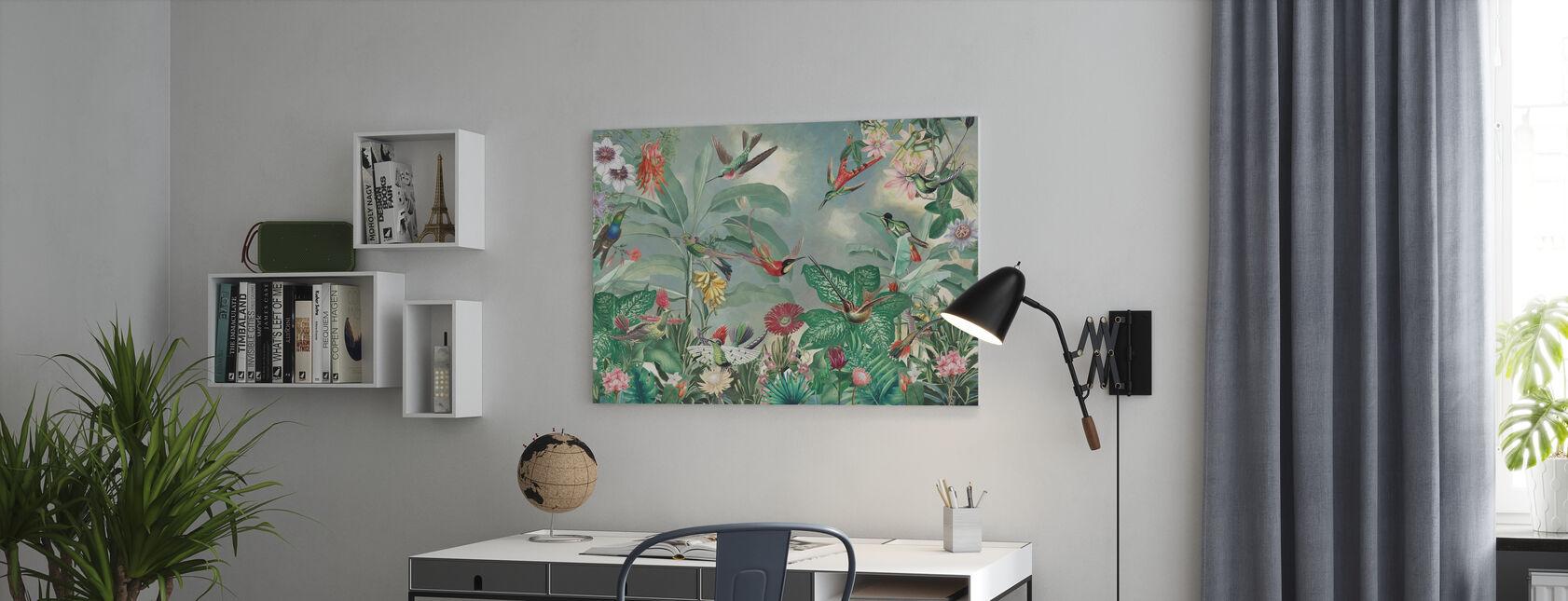 Paradiesvögel - Leinwandbild - Büro
