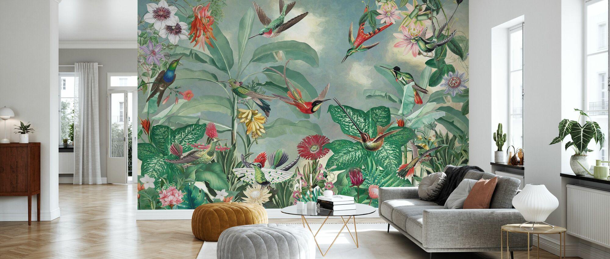 Paradiesvögel - Tapete - Wohnzimmer