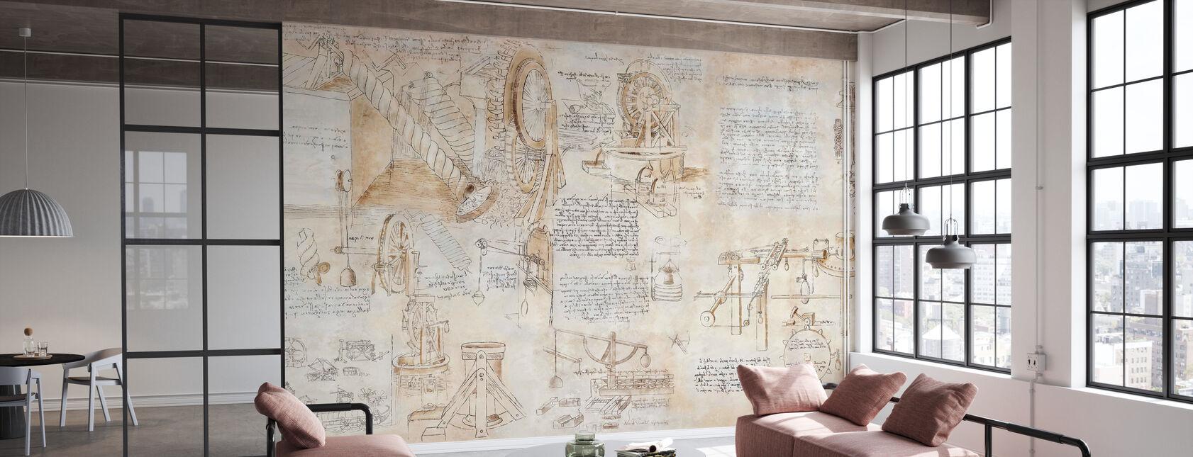 Da Vinci - Uitvindingen - Behang - Kantoor