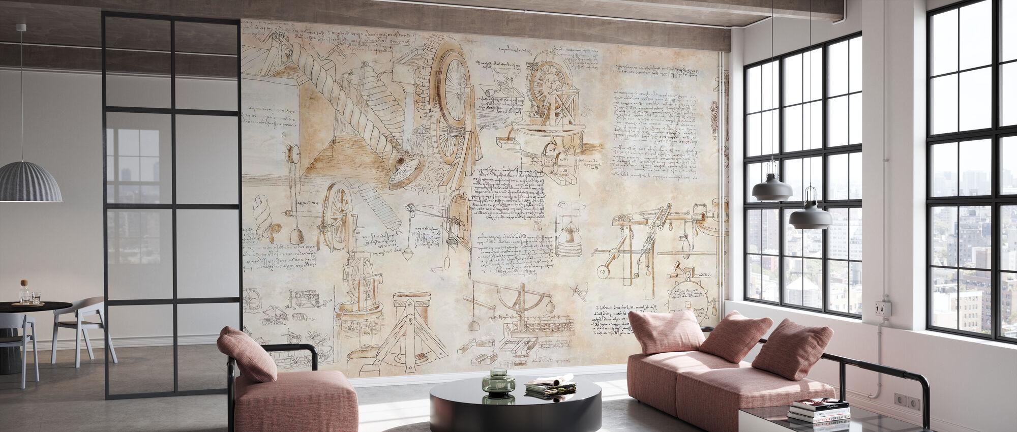 Da Vinci - Inventions - Wallpaper - Office