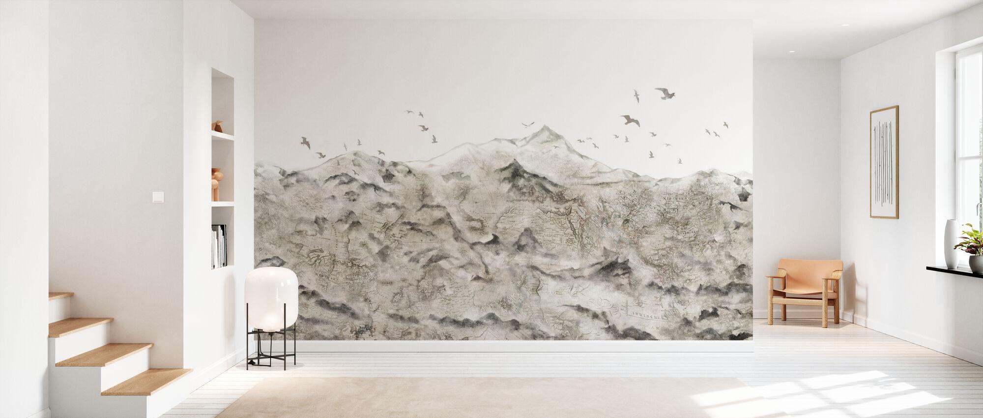 Berg Karte - Tapete - Flur