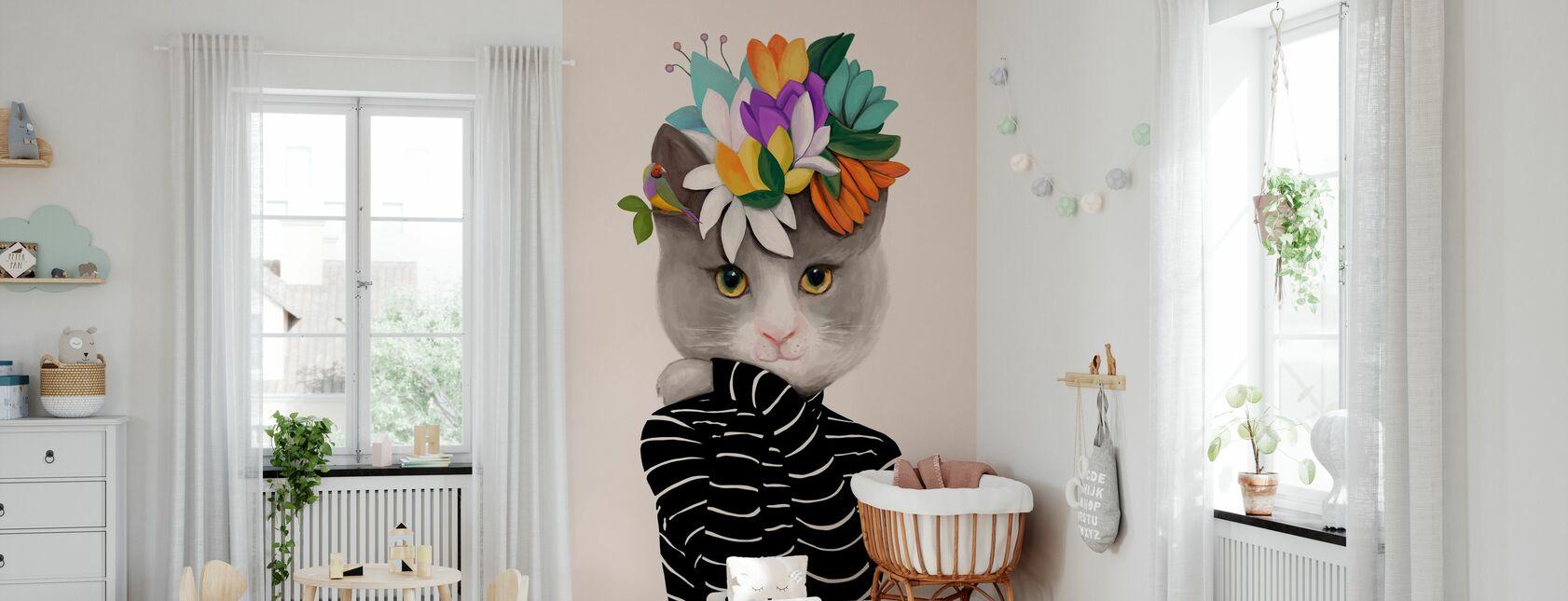 Katt - Tapet - Babyrom