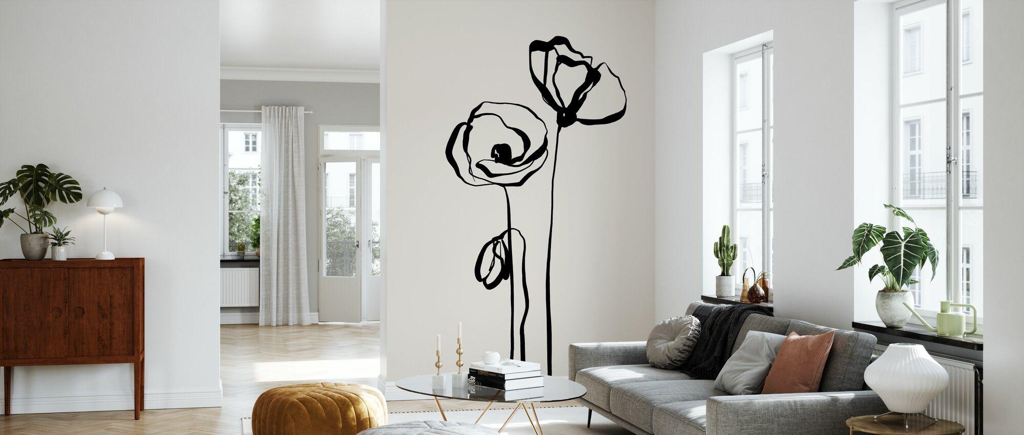 Poppy - Wallpaper - Living Room