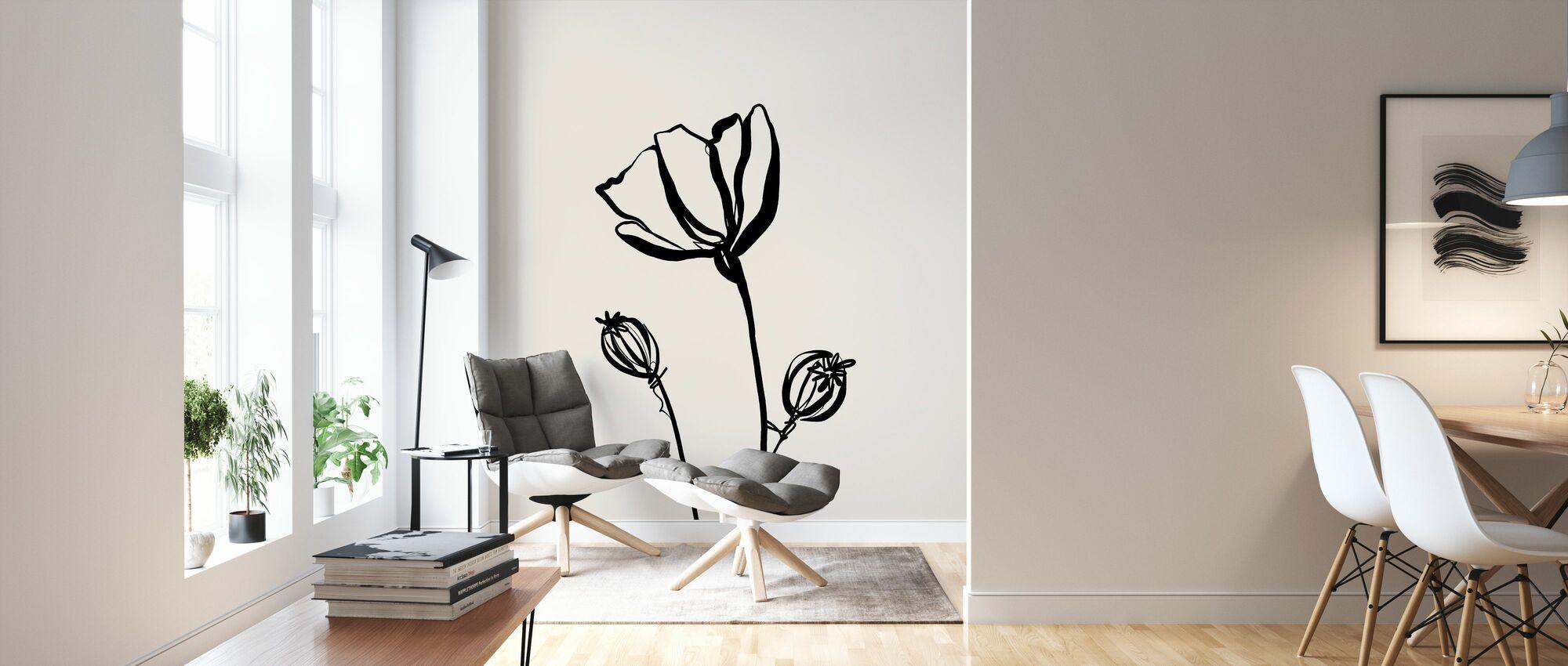 Poppy II - Wallpaper - Living Room