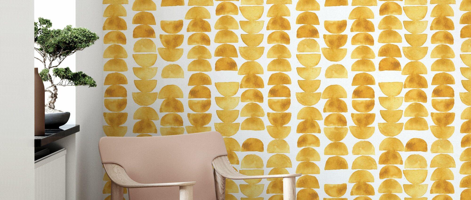 Happy Yellow - Wallpaper - Living Room