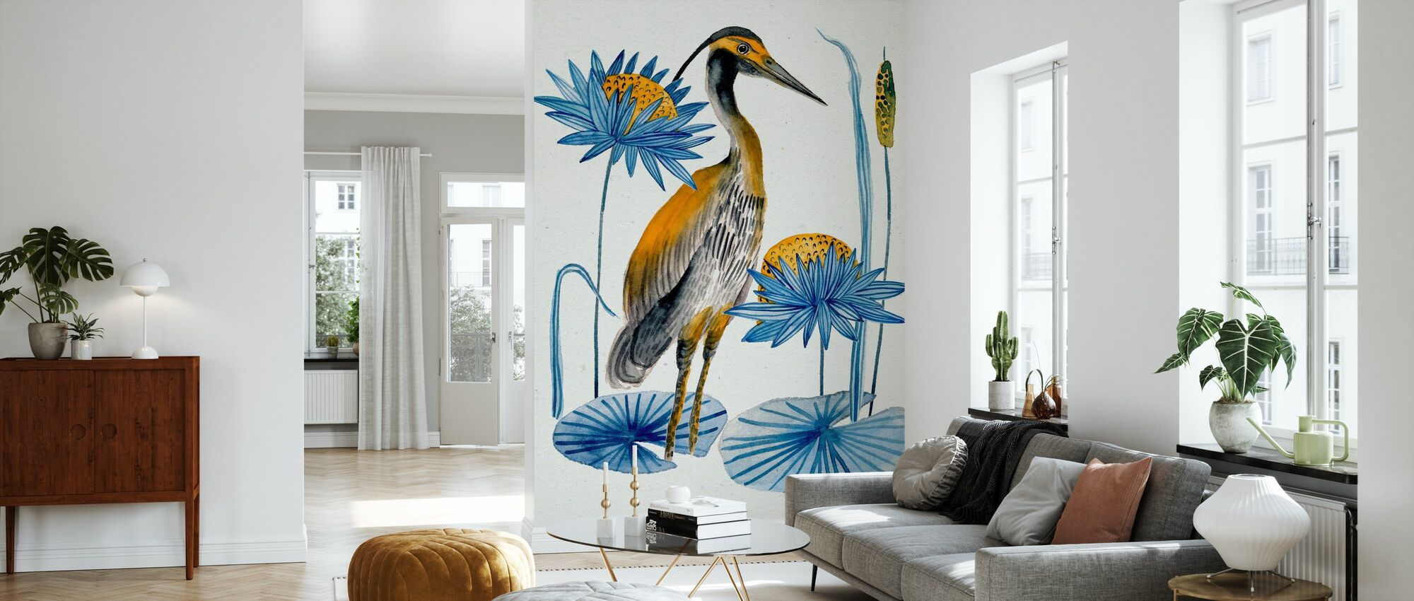 Heron Pond - Wallpaper - Living Room