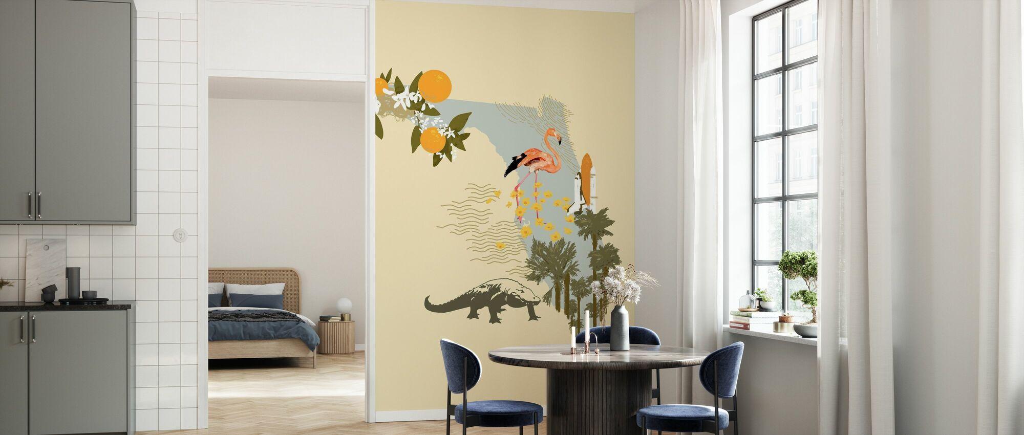Illustrated Florida - Wallpaper - Kitchen