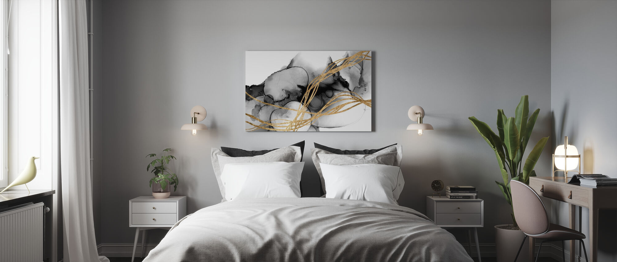 Matrix Undulation - Canvas print - Bedroom