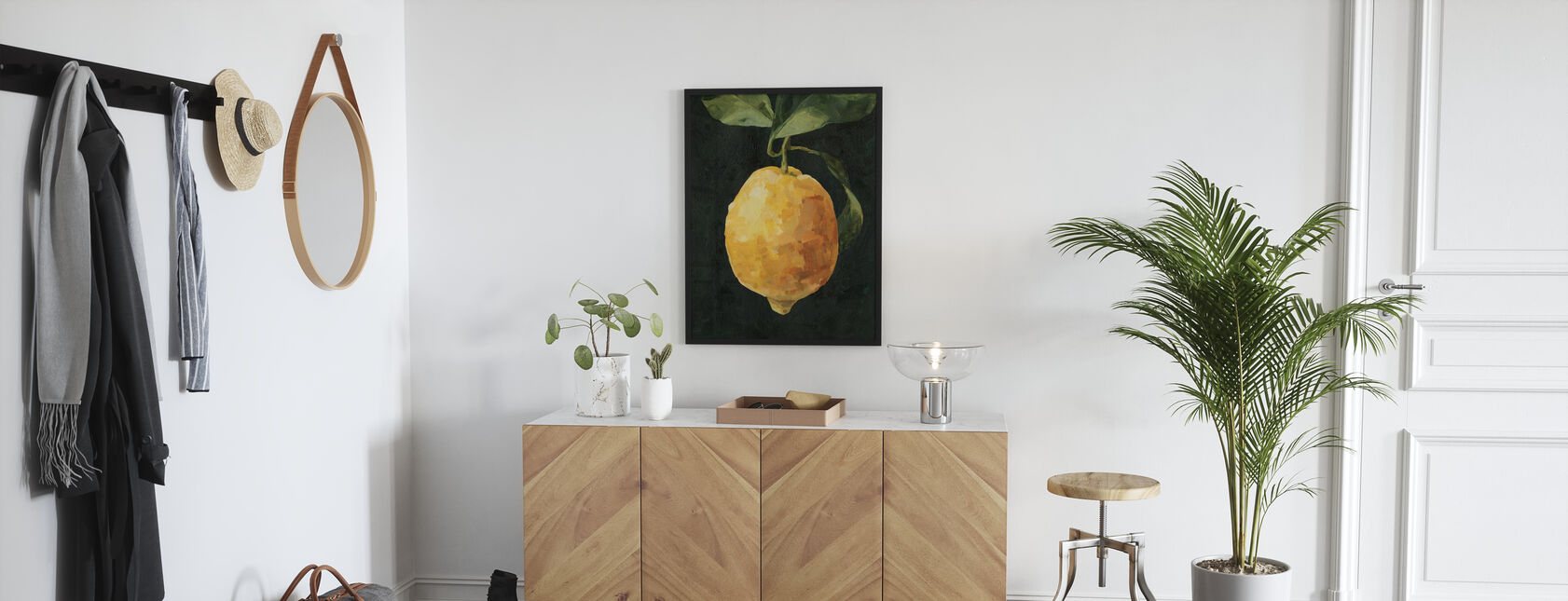 Donkere citroen - Ingelijste print - Gang