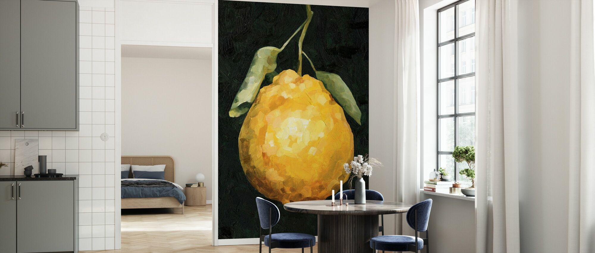 Dunkle Zitrone II - Tapete - Küchen
