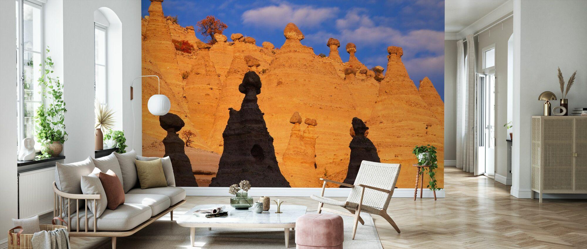 Tent Rocks - Wallpaper - Living Room