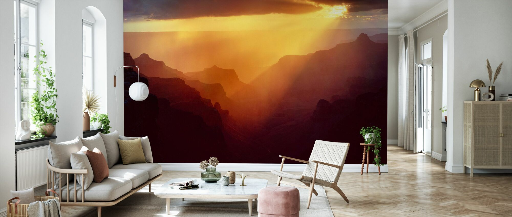 Canyon Ridges Sunset - Wallpaper - Living Room