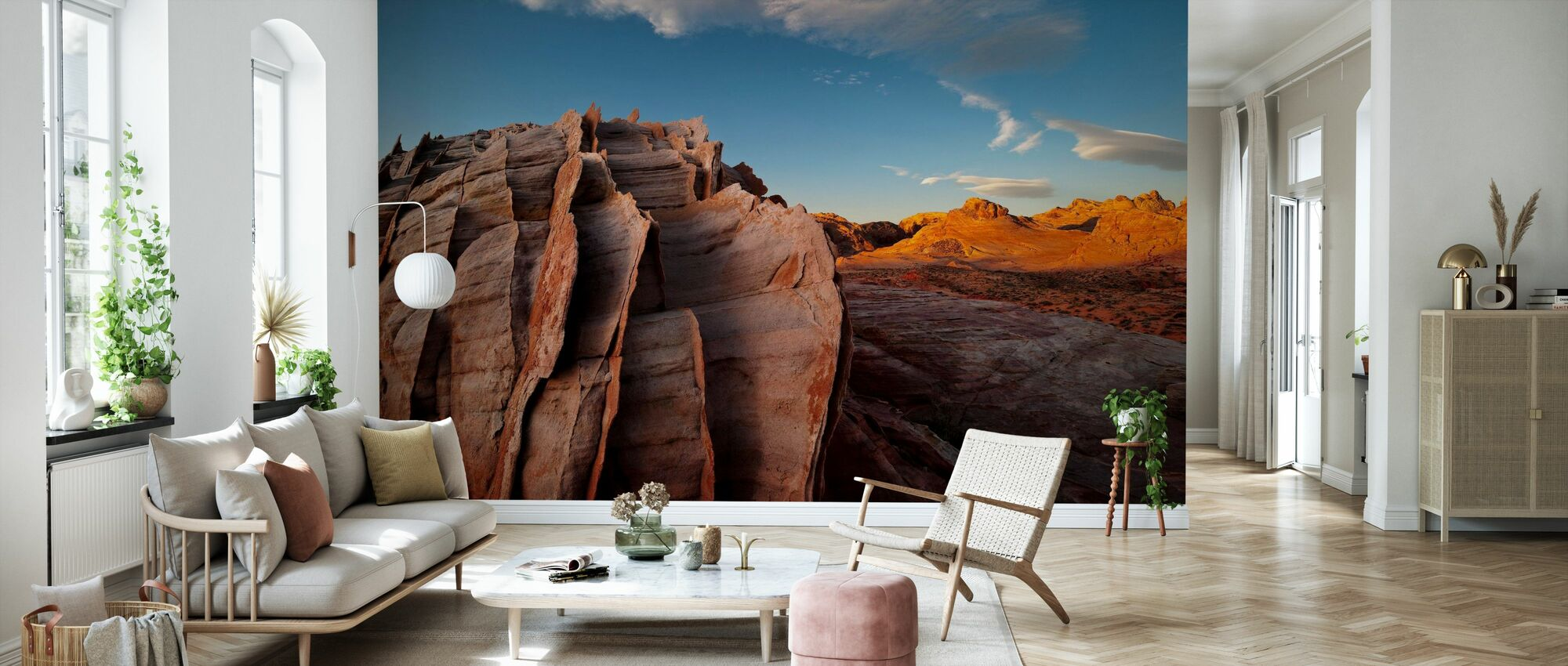 Eroded Aztec Sandstone - Wallpaper - Living Room