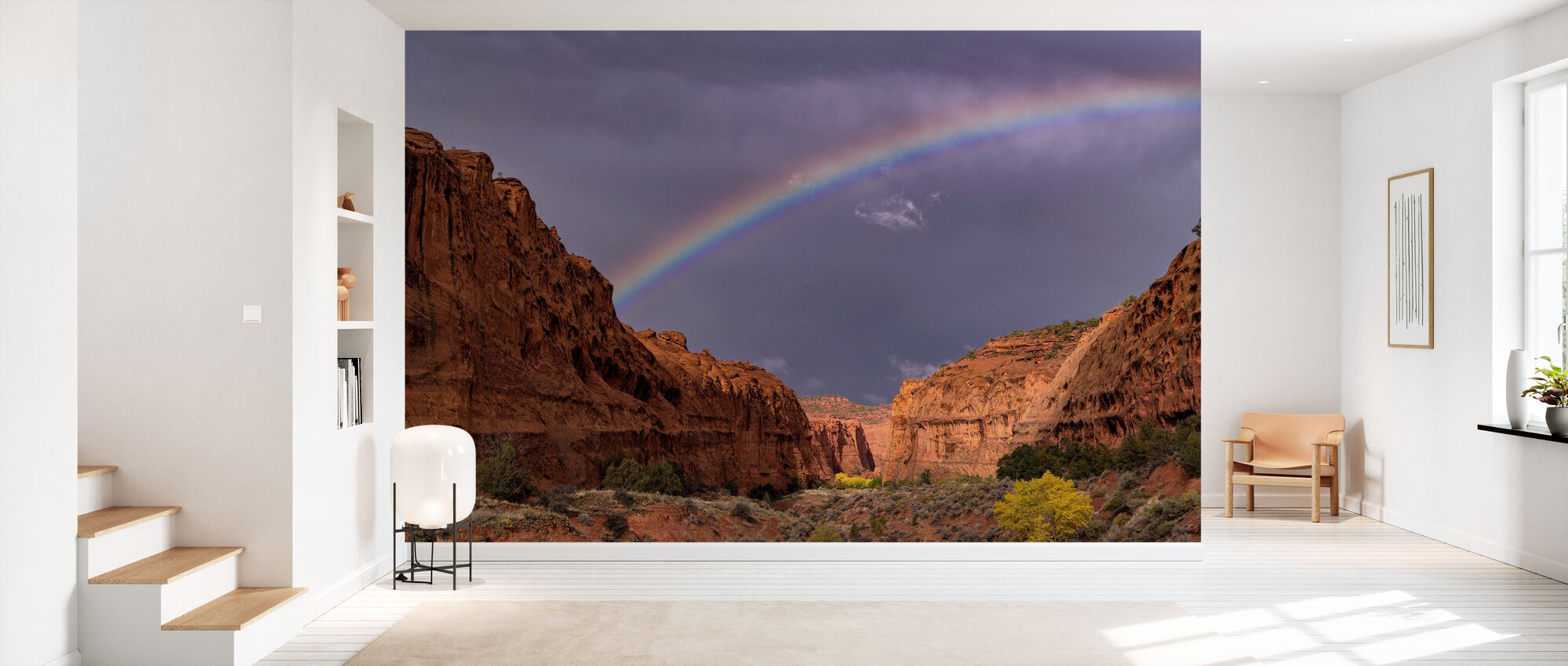 Rainbow Over Long Canyon - Wallpaper - Hallway