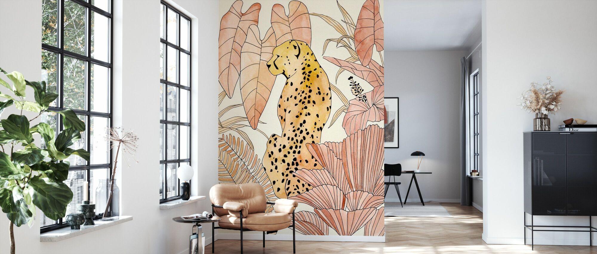 Blush Cheetah - Wallpaper - Living Room