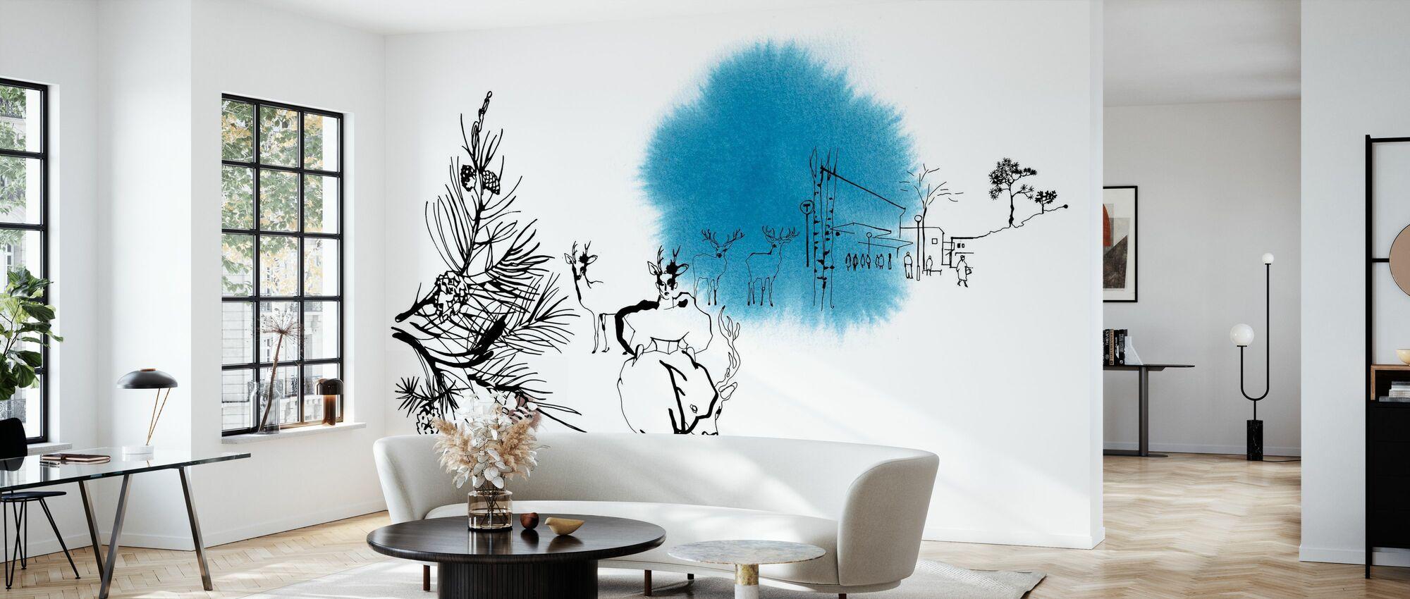 Björkhagen - Wallpaper - Living Room