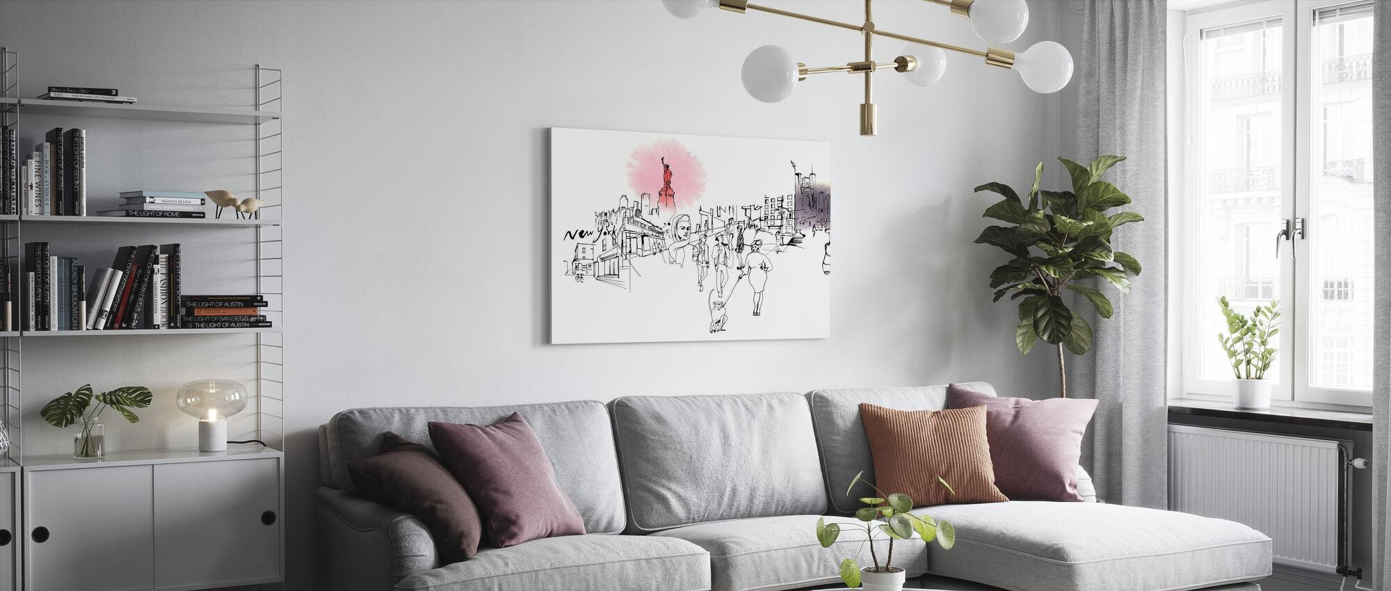 New York City - Katz's Delicatessen - Canvas print - Living Room