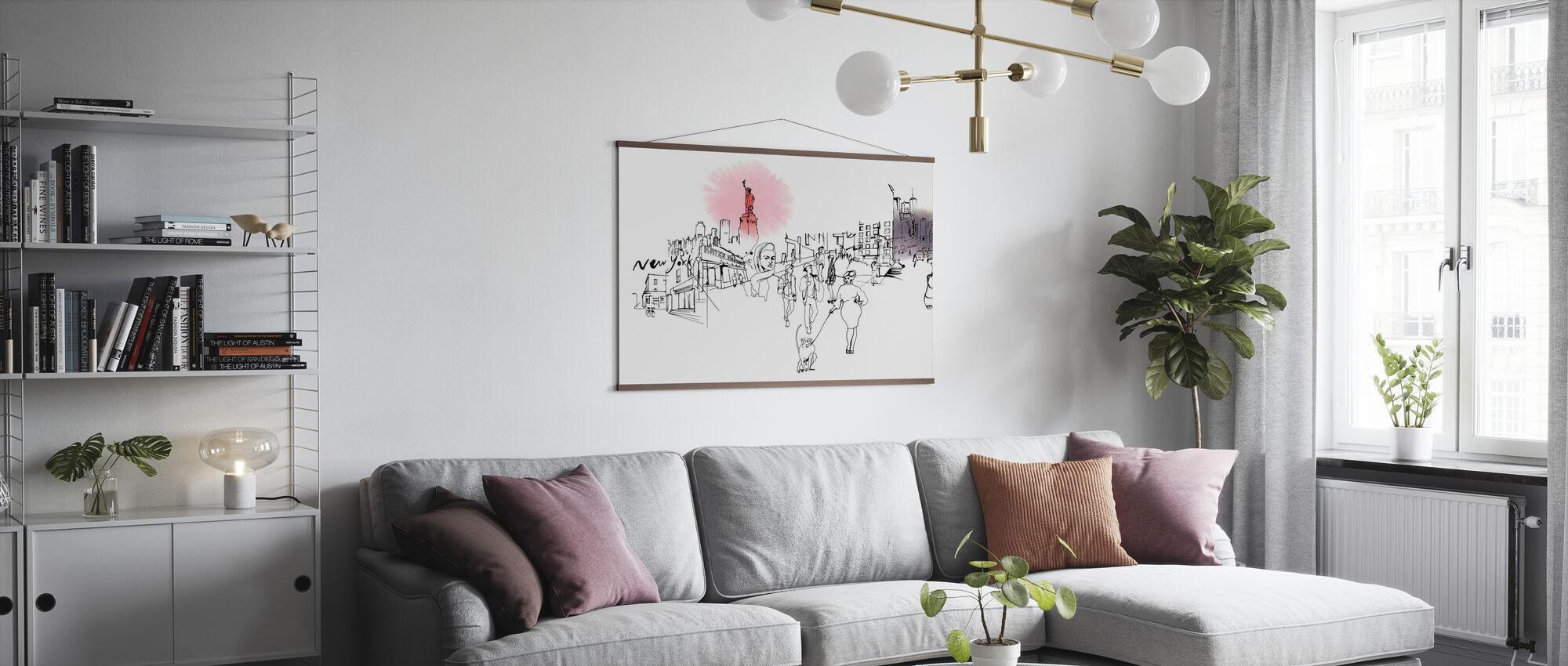 New York City - Katz's Delicatessen - Poster - Living Room