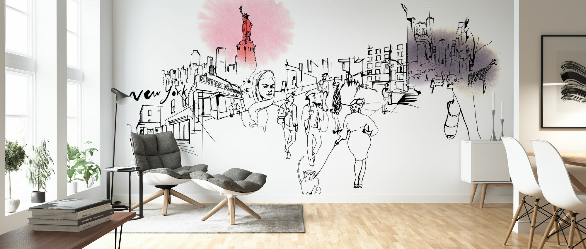 New York City - Katz's Delicatessen - Wallpaper - Living Room