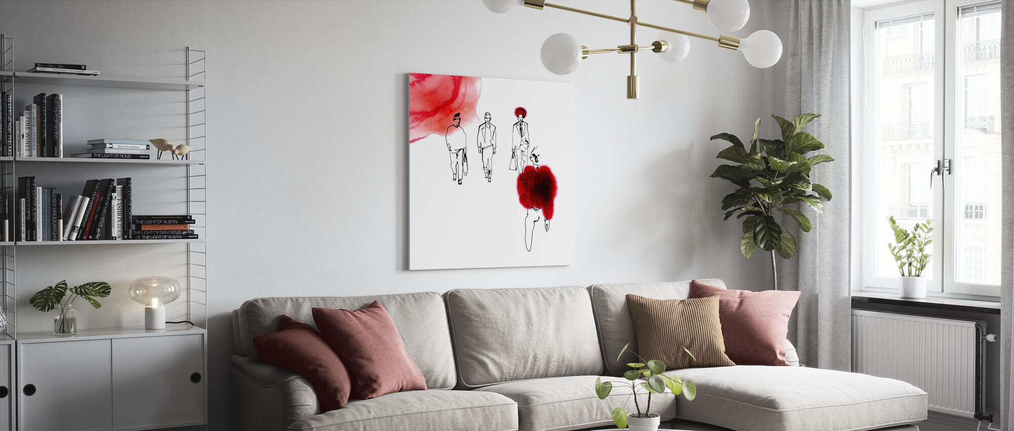 Red Runway - Canvas print - Living Room