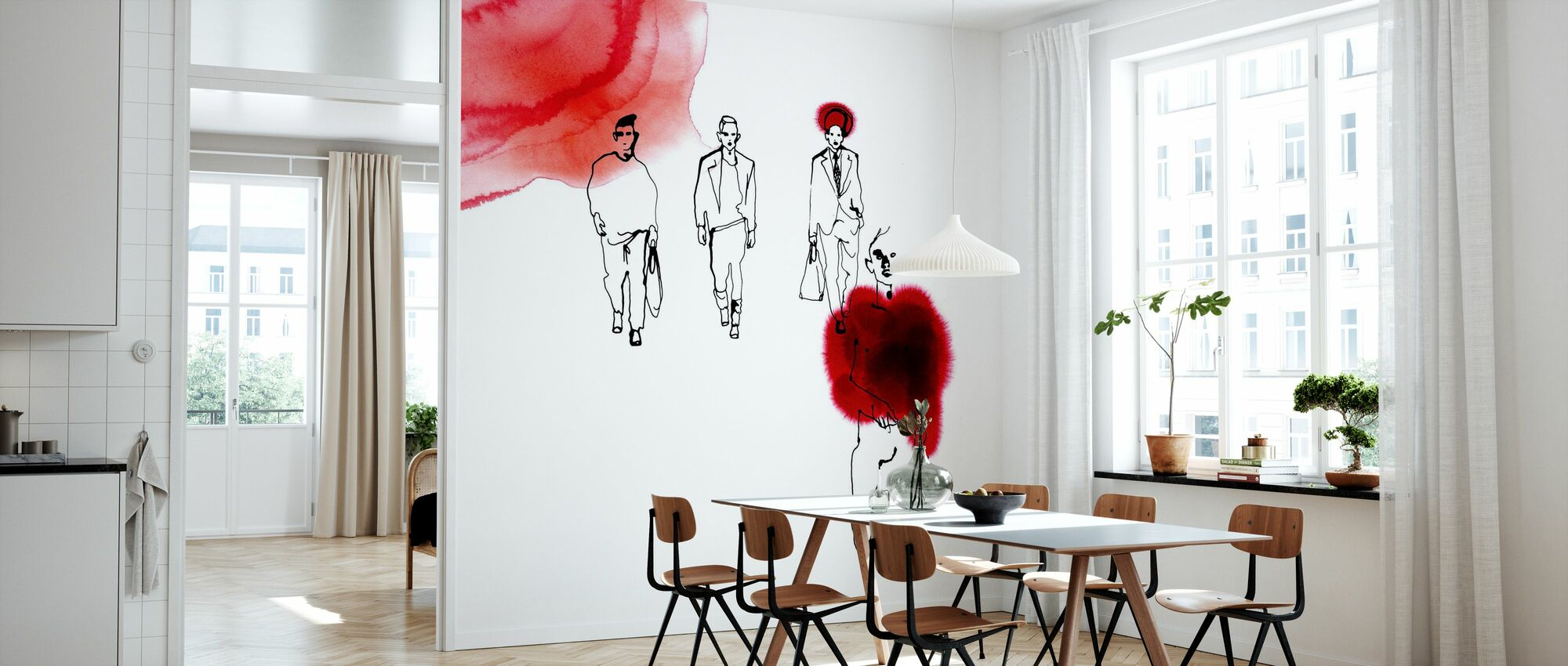 Red Runway - Wallpaper - Kitchen