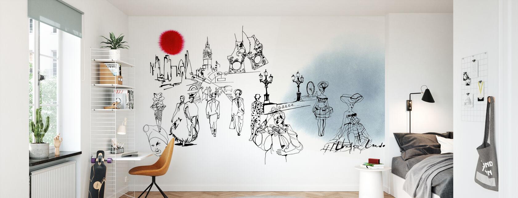 De London Editie - Behang - Kinderkamer
