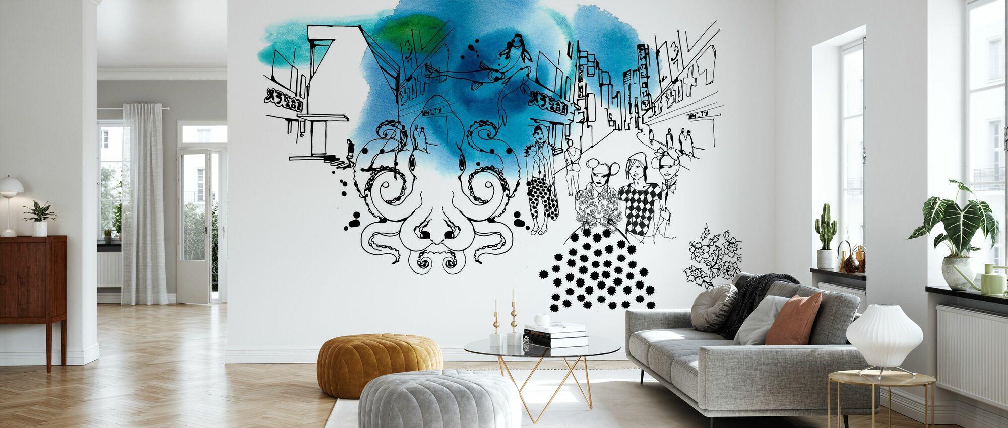 Tokyo II - Wallpaper - Living Room