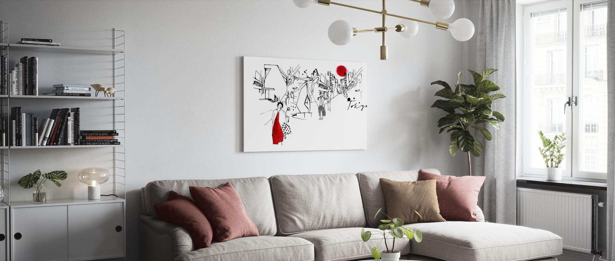 Tokyo III - Canvas print - Living Room
