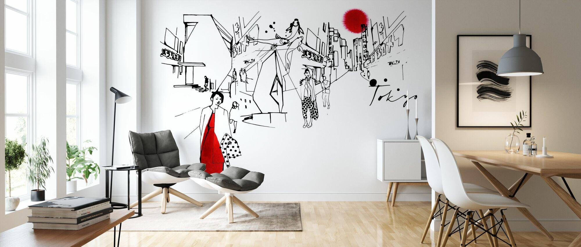 Tokyo III - Wallpaper - Living Room