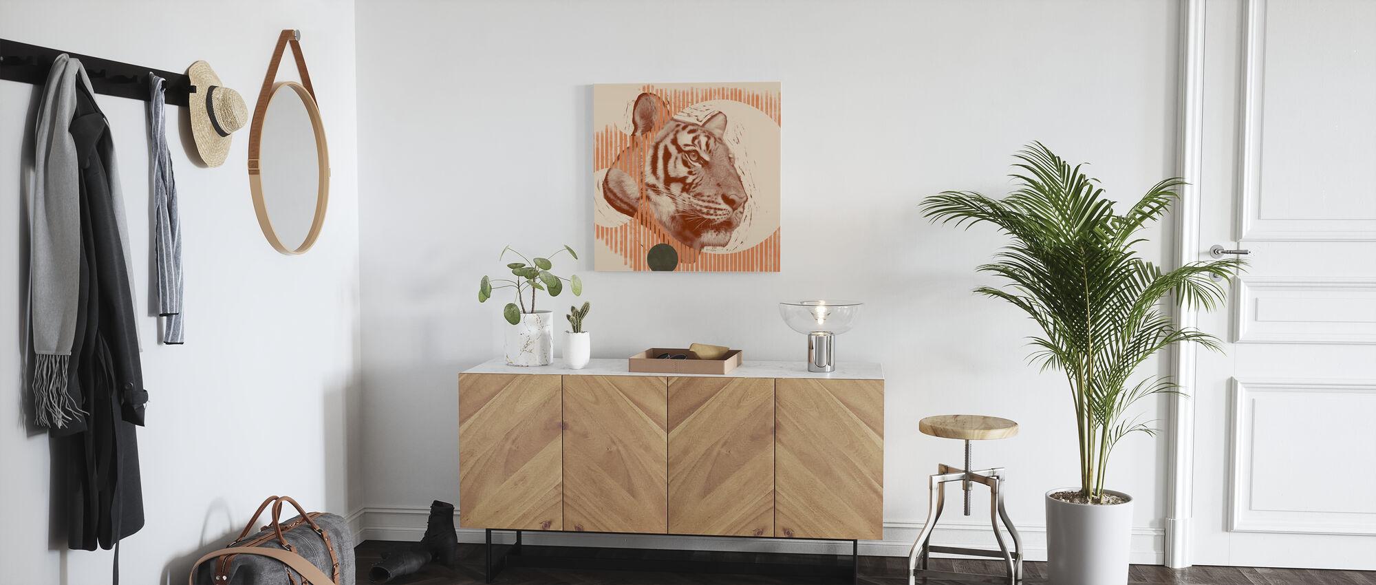 Pop Art Tiger - Canvas print - Hallway