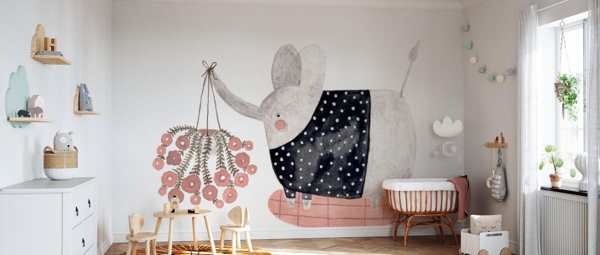 olifant - Behang - Babykamer