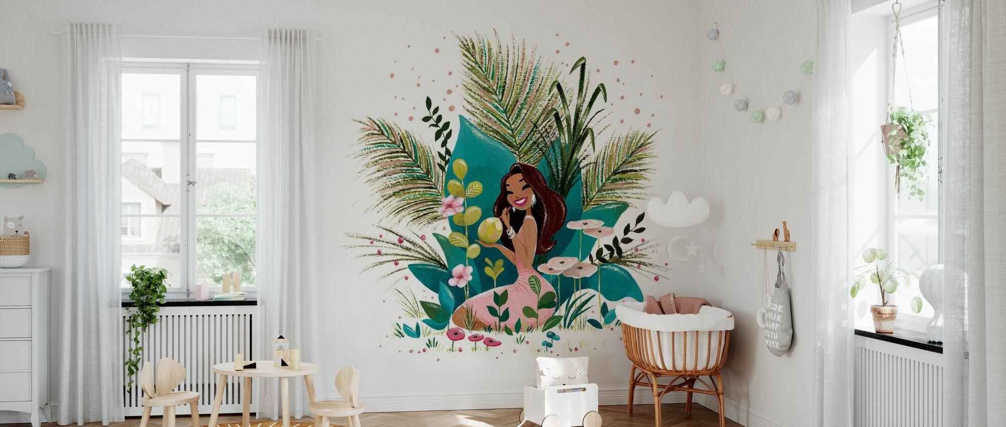 Tiki Coco Girl - Wallpaper - Nursery