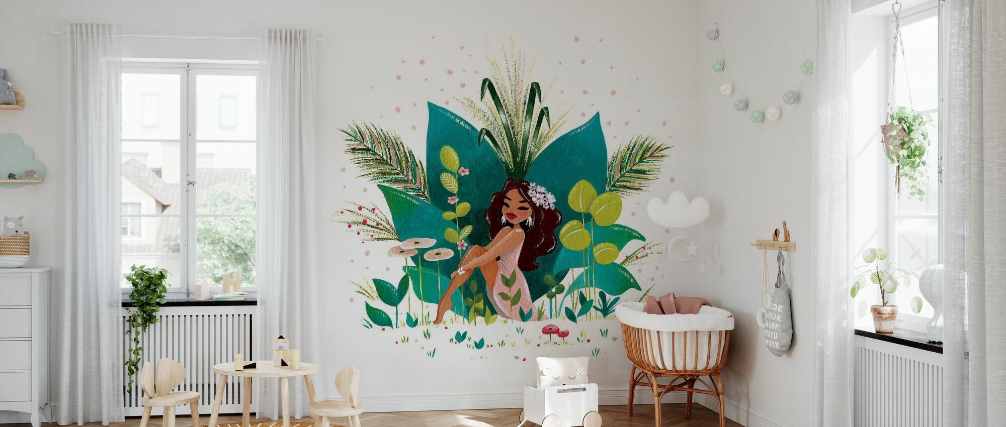 Tiki Girl - Wallpaper - Nursery