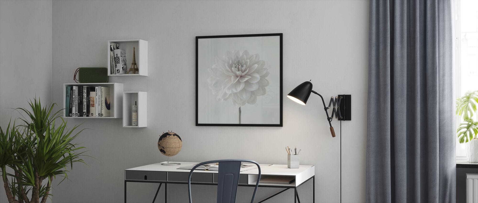 Dahlias - Framed print - Office