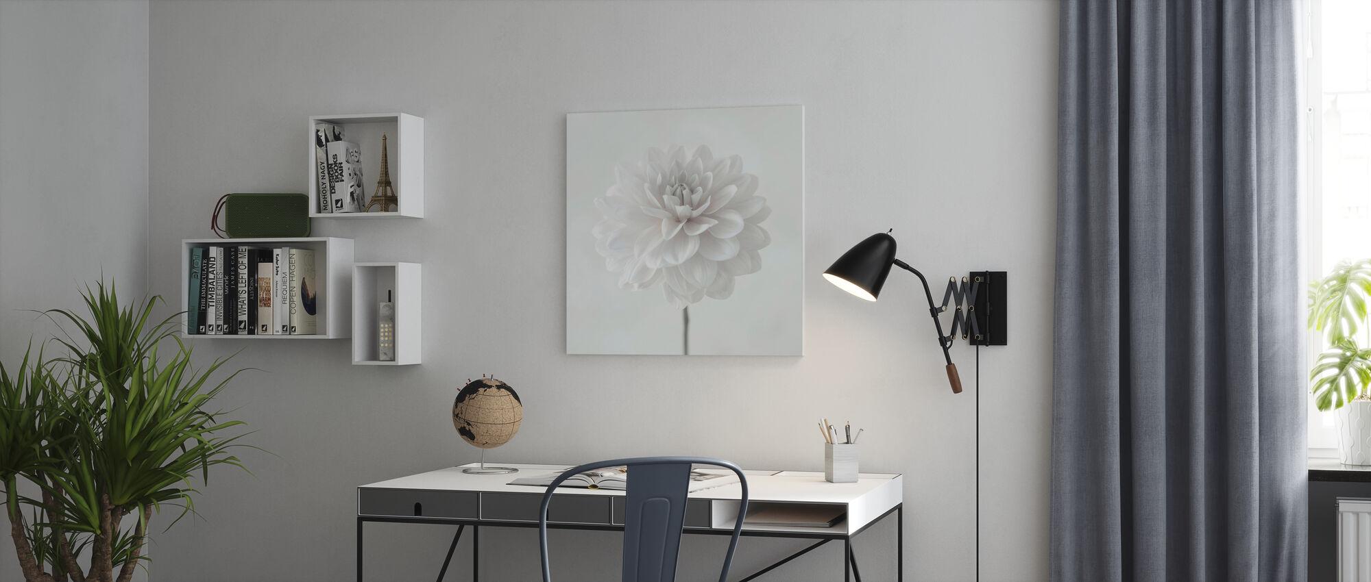 Dahlias - Canvas print - Office