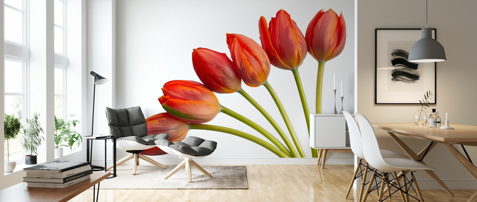 Tulpen - Behang - Woonkamer
