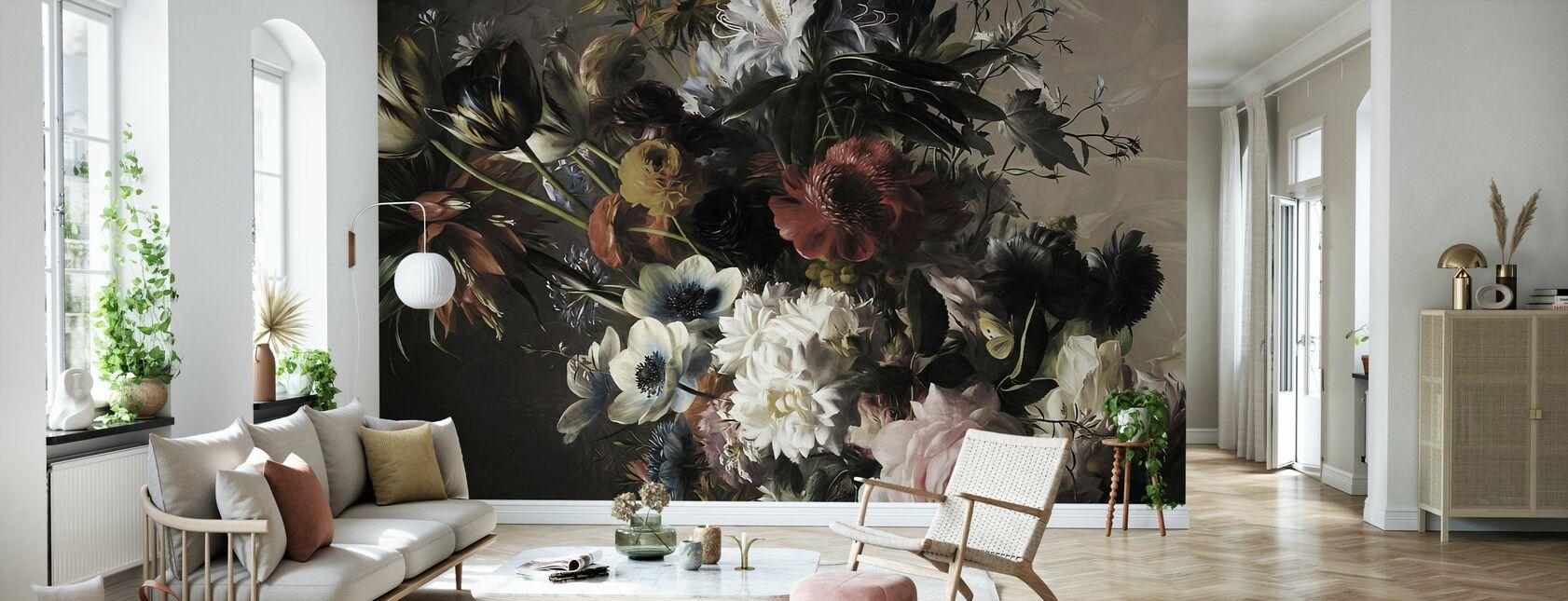 Bouquet with Anemones - Wallpaper - Living Room