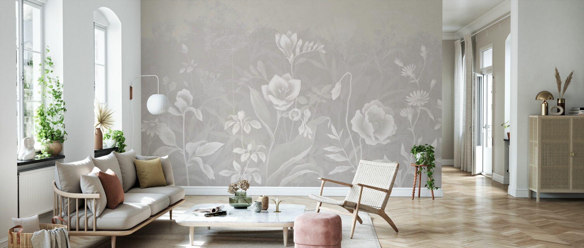 Gentle Botanical - Begie - Wallpaper - Living Room