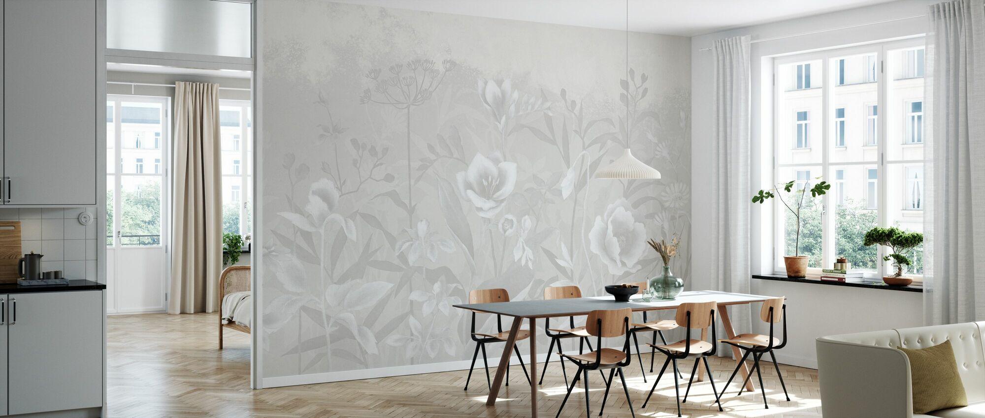 Gentle Botanical - Soft Begie - Wallpaper - Kitchen