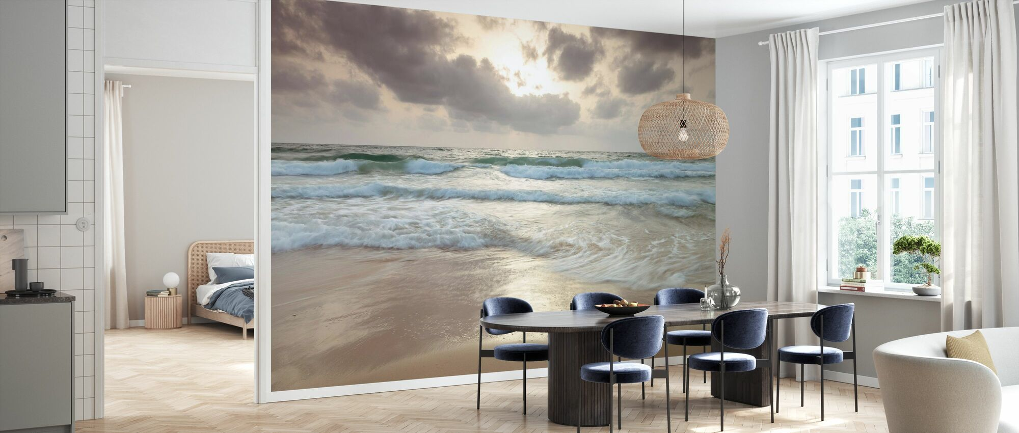 Beach - Wallpaper - Kitchen