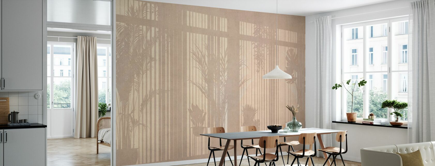 Sunny Window - Beige - Wallpaper - Kitchen