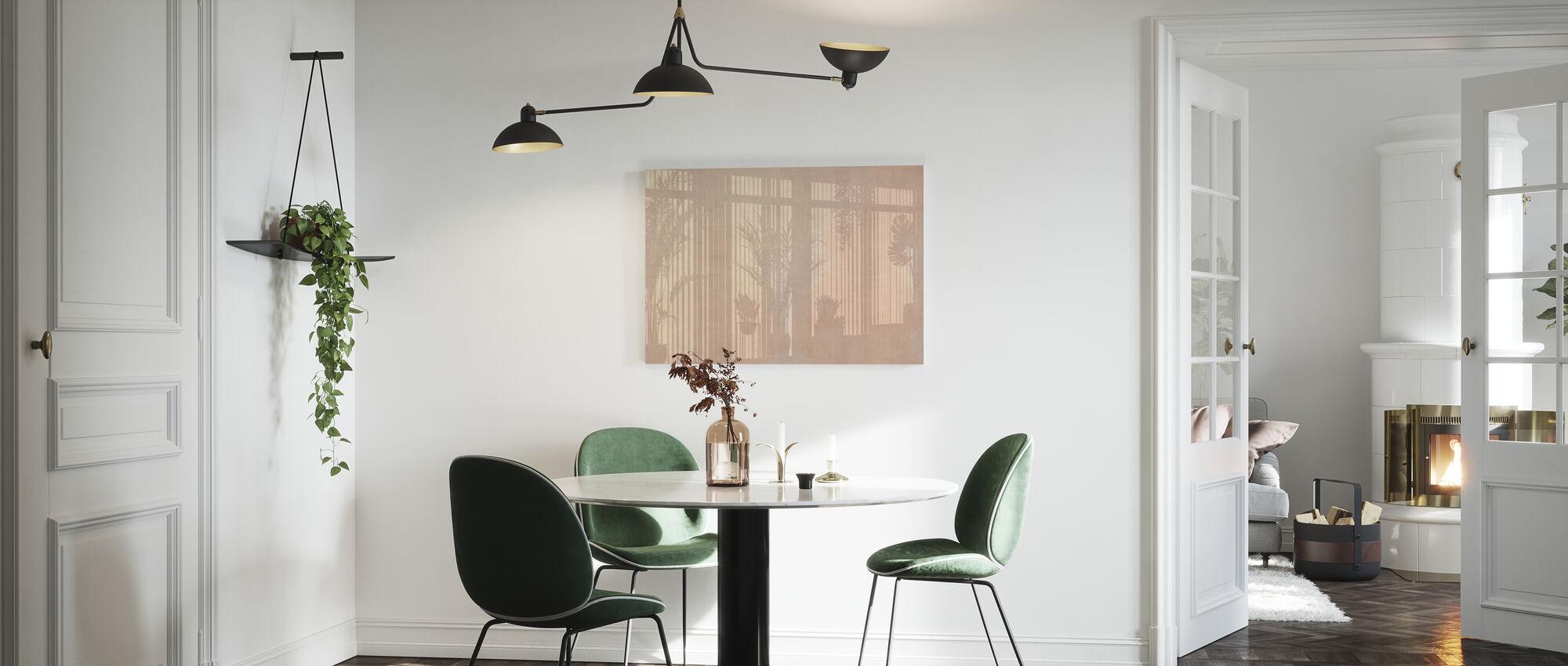 Sunny Window - Ochre - Canvas print - Kitchen