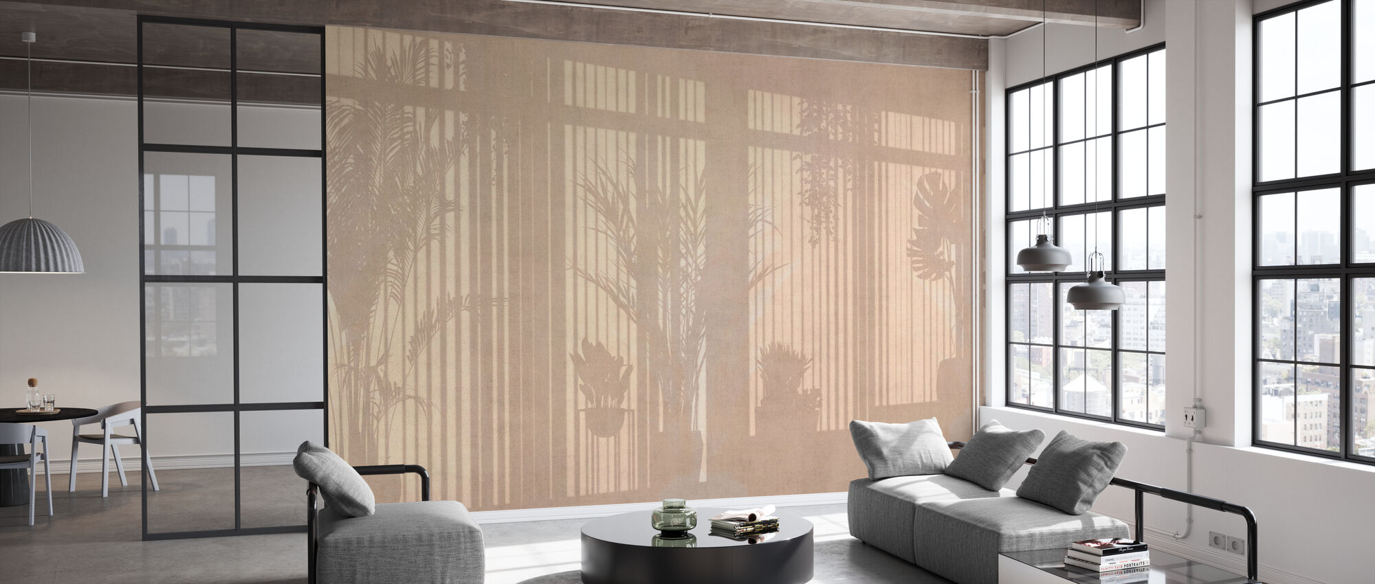 Sunny Window - Ochre - Wallpaper - Office