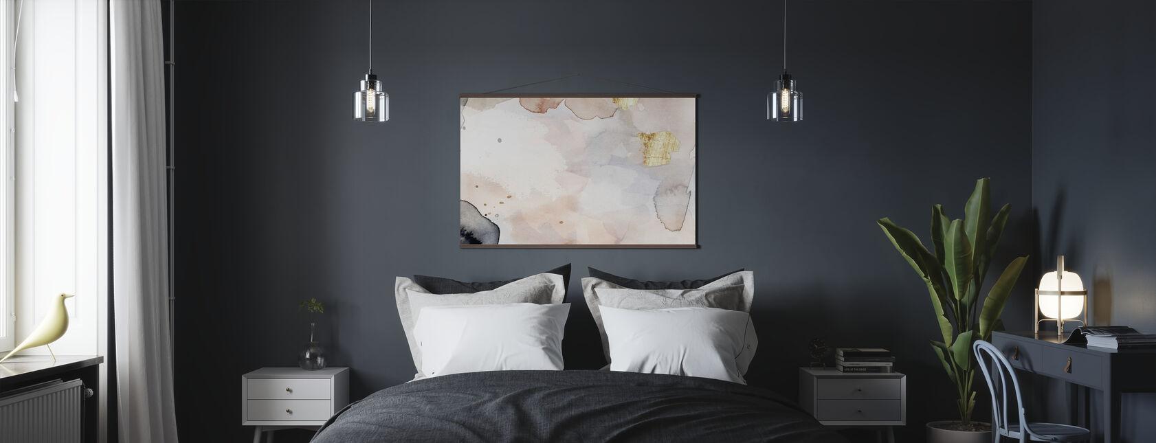 Indigo Blush en Goud - Poster - Slaapkamer