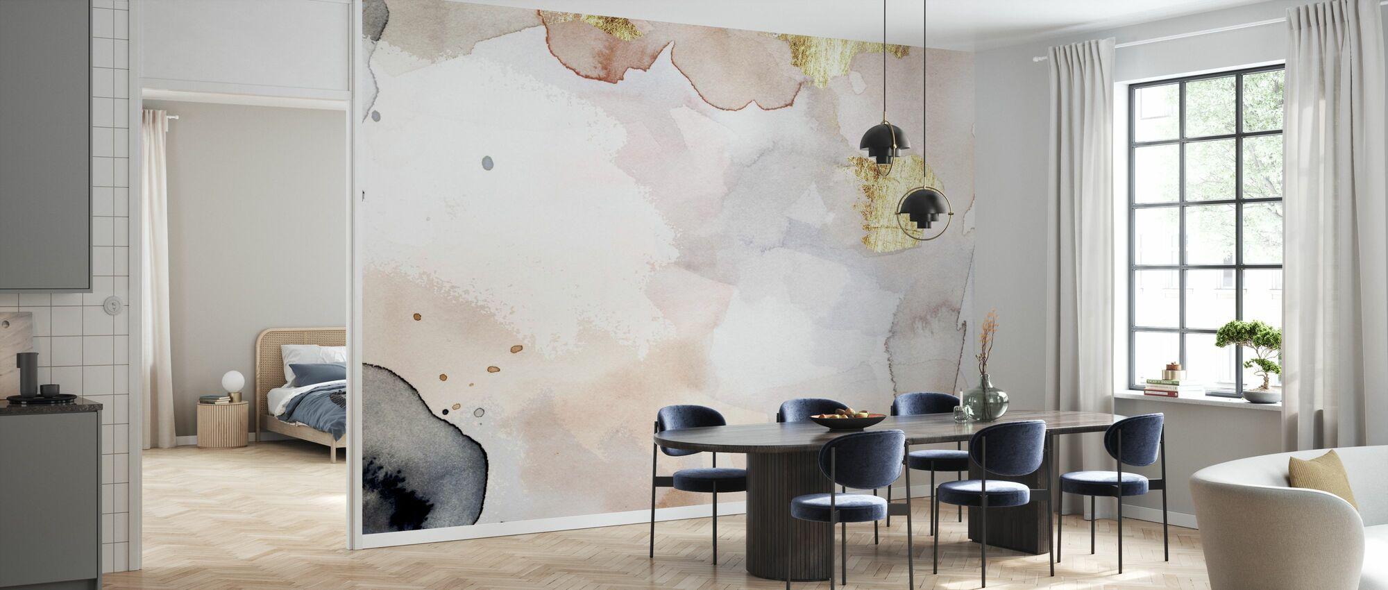 Indigo Blush and Gold - Wallpaper - Kitchen