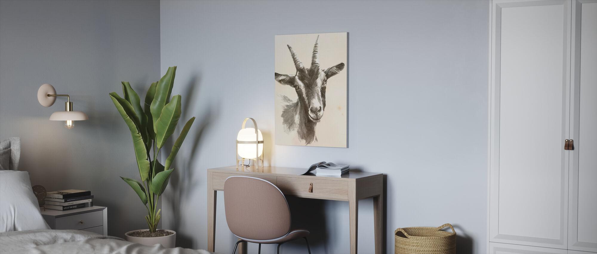 Sketched Farm Portraits II - Canvas print - Office