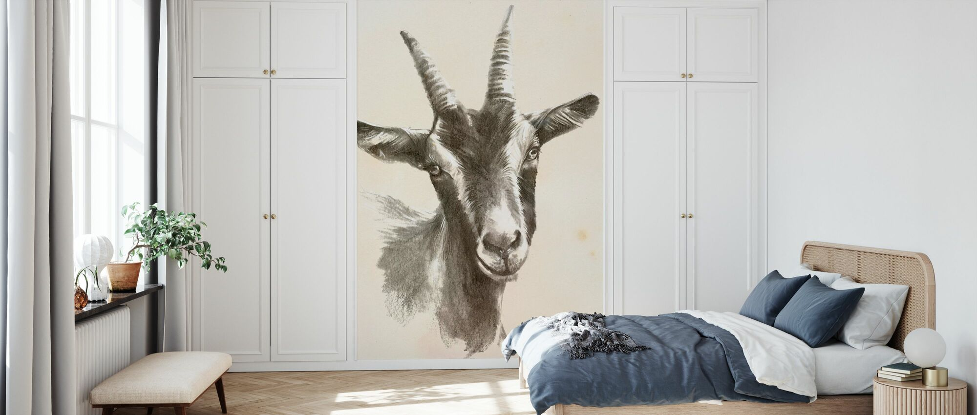 Sketched Farm Portraits II - Wallpaper - Bedroom