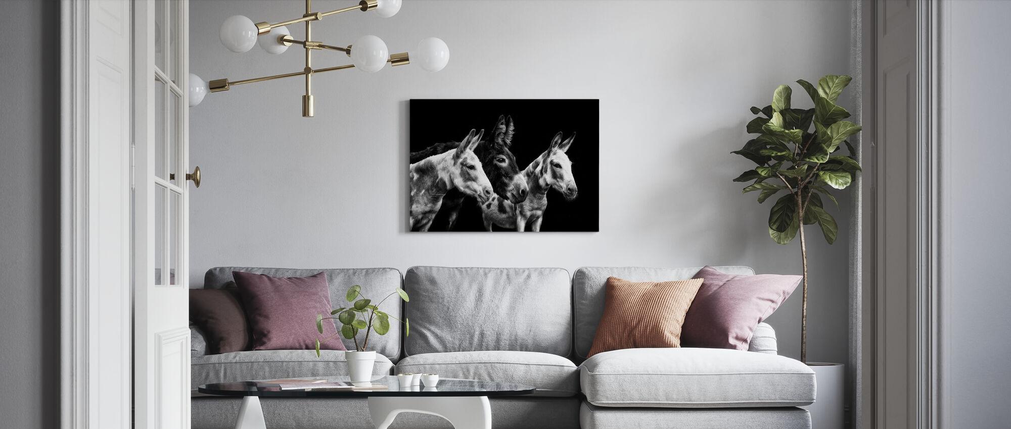 Esel Portrett II - Lerretsbilde - Stue