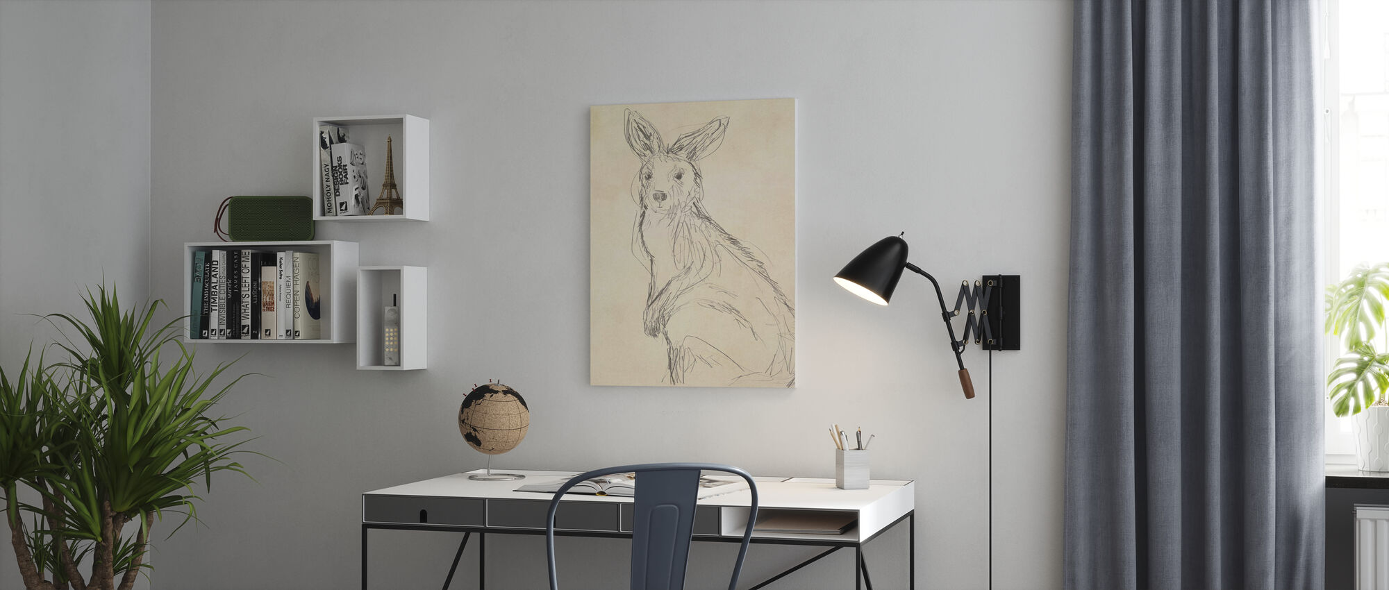 Outback Sketch II - Canvas print - Office