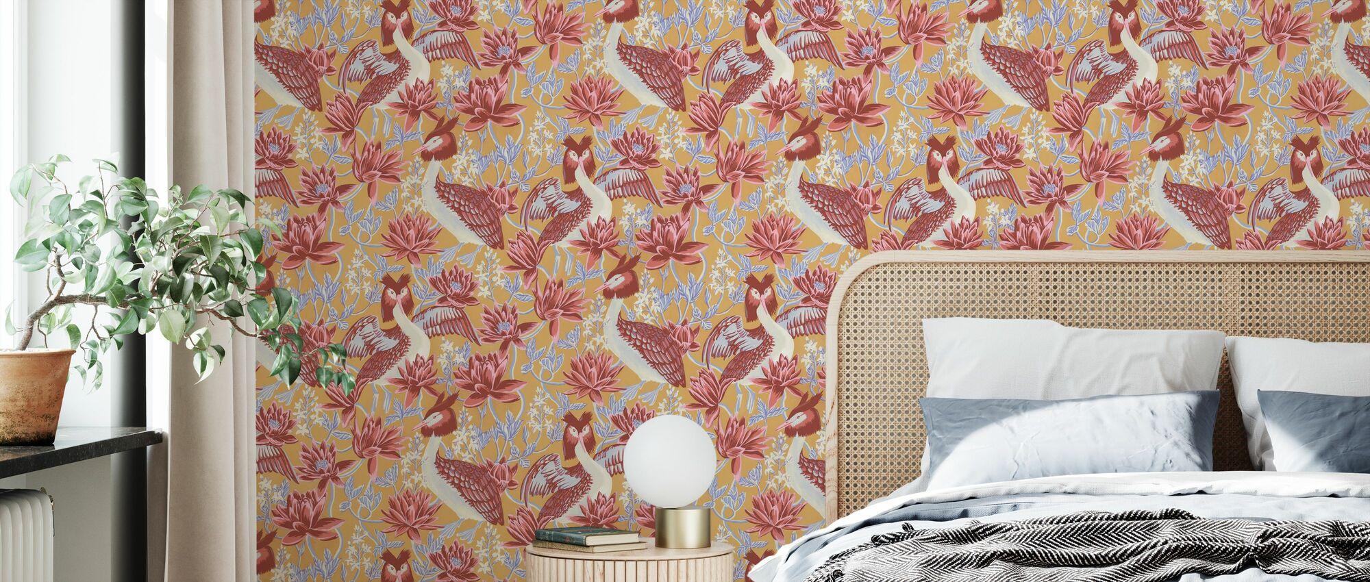 Lake Luxe - Grape - Wallpaper - Bedroom